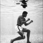 Picture Suggesting Muhammad Ali's Boxing Secret Involved Regular Training Underwater