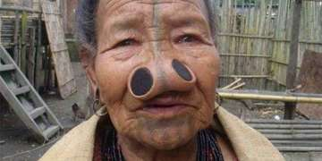Funny Nose, Body Modification Picture of a Woman