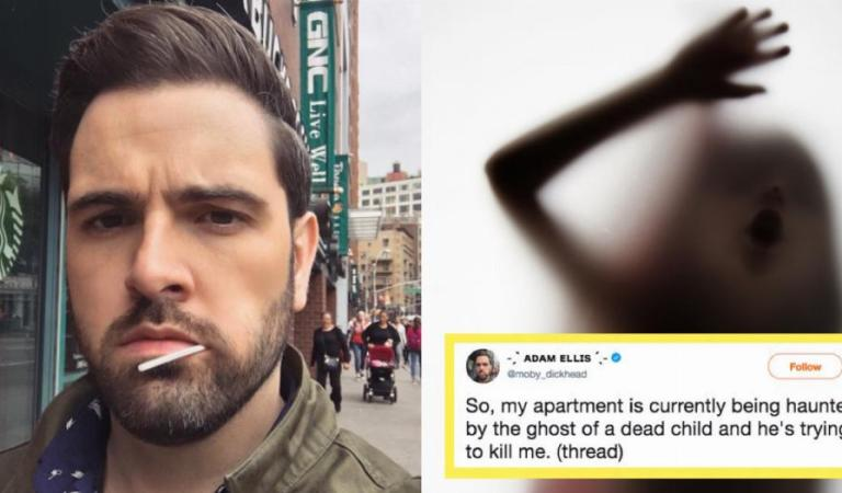 Man Tweeting About Being Haunted by a Creepy Child Ghost in His Apartment: Facts
