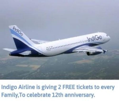 Image of Indigo Airlines free tickets message scam