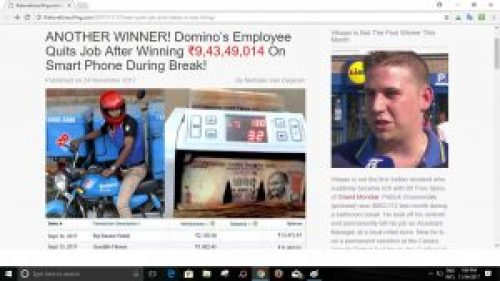 Picture about Domino's Employee Quits Job After Winning Spectacular Jackpot: Scam