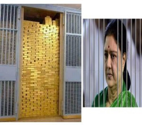 Picture about Loads of Black Money and Gold Unearthed from Tunnel Inside Sasikala's House