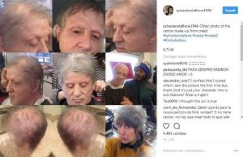 Picture of Sylvester Stallone Cancer Make-up for Movie Creed