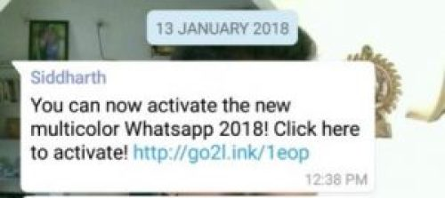 Picture of New Multicolor WhatsApp 2018 Text Message