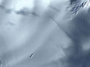 Alleged UFO Crash Landing in Antarctica, Google Earth Images