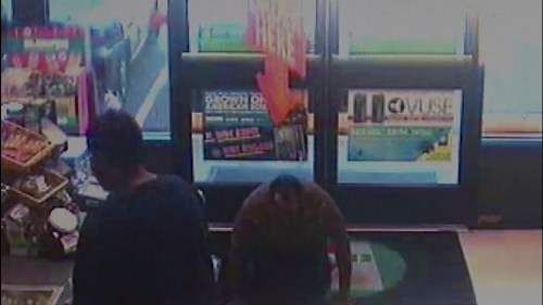 Image of Vincent Phillips seeking help in a Store after he was set on fire by his wife