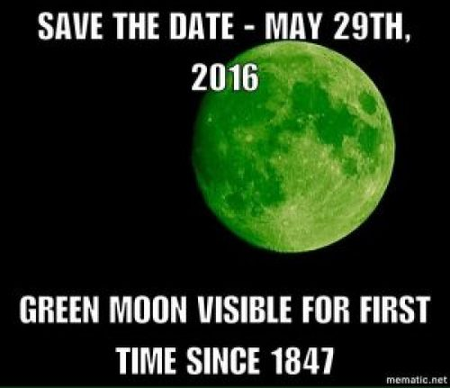 Image of Message about Green Moon in 2017