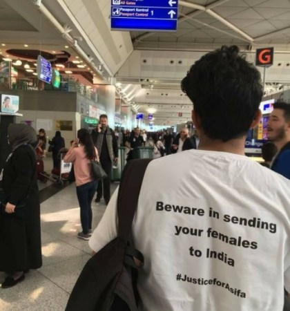 Justice for Asifa T-Shirt Pictures at Istanbul Airport: Fact Check
