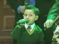 Image about Martyr Army Officer's Son Singing Soulful Song With Confidence