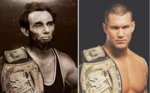 Composite photoshopped picture probably using Randy Orton's WWE Belt