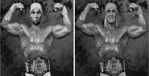 Photoshopped picture of Hulk Hogan showing Abraham Lincoln