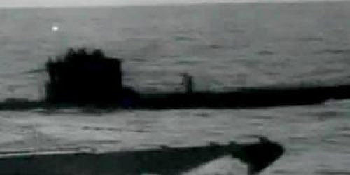 Original image (without any Megalodon) from an archival U-boat film