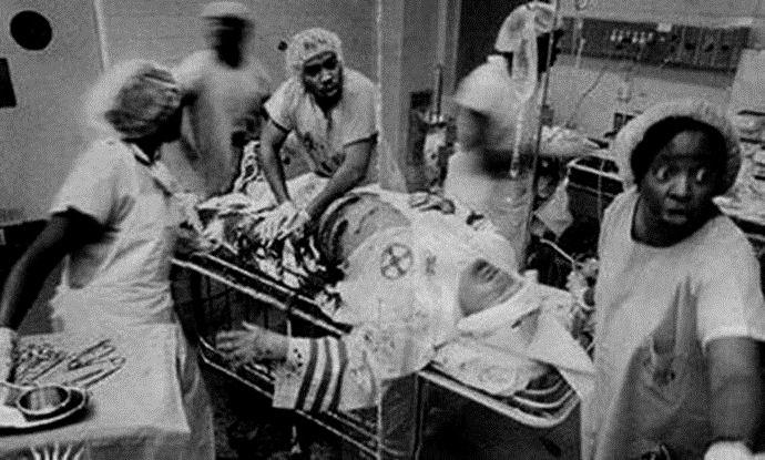 Alleged Photograph of Black Physicians Saving KKK Member