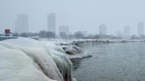 Image of Polar Vortex Freezing Chicago