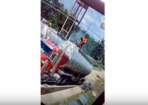 Image about Acid Fumes Vaporized Man on Tanker, Shocking Accident