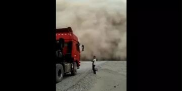 Image about Huge Clouds Falling on Ground in China, Video