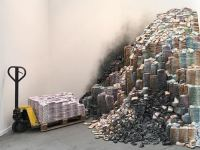 Image about Huge Stacks of Black Money Found in Godown of a Politician