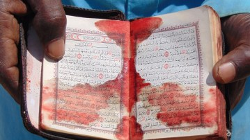 Image about Picture of Martyr's Blood-Stained Quran Found at Christchurch