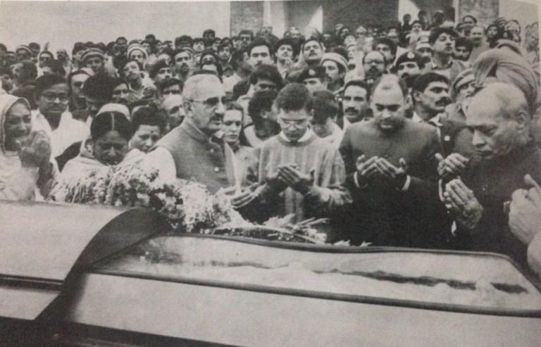 Image about Rahul and Rajiv Gandhi's Islamic Prayers at Indira's Funeral