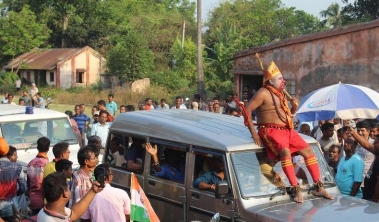 BJP Candidate Election Campaign in Hanuman Disguise: Fact Check