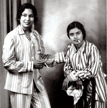 Image about Legends Balasaraswati and Subbulakshmi Smoking Cigarettes