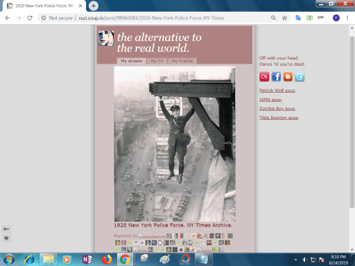 Screenshot of the photograph on a micro-blogging site