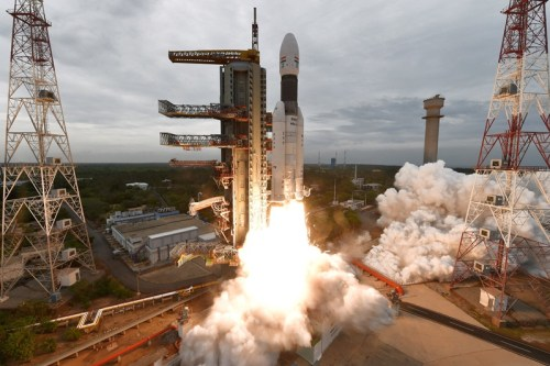 Image of Chandrayaan-2 Mission Launch by Indian Space Agency ISRO
