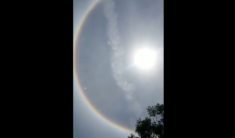 Rare Full Circle Rainbow Brahma Dhanush Seen in Gujarat: Fact Check