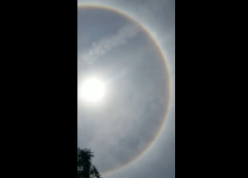 Image about Rare Full Circle Rainbow Brahma Dhanush Seen in Gujarat