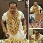 Image about Tirupati Temple Priest and Daughters Wearing Lot of Gold