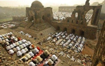 Image about Last Prayers Offered in Demolished Babri Masjid, Photograph