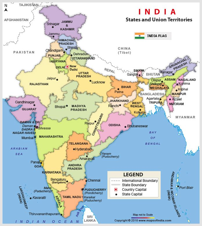 Image of Old Map of India