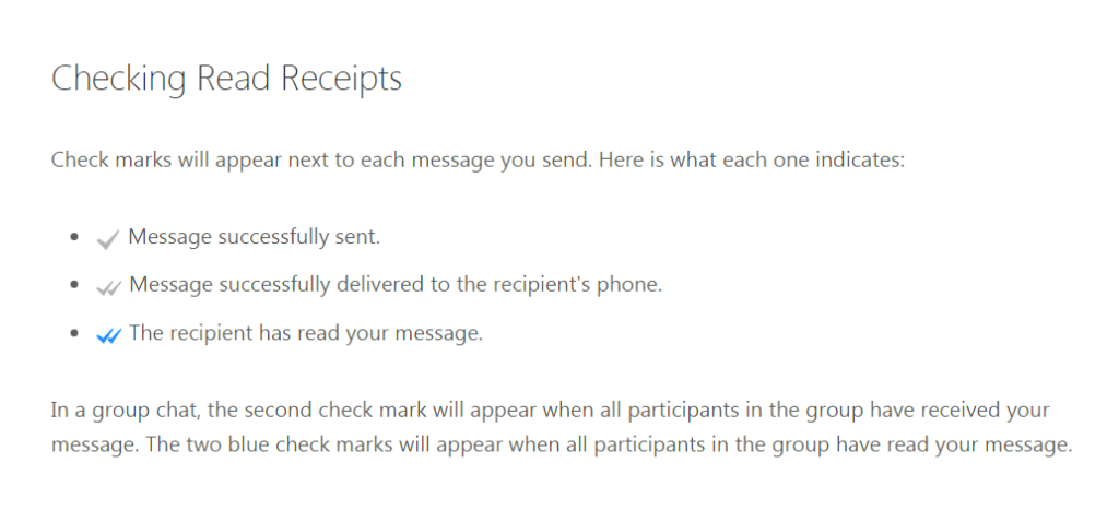 Image of Description of WhatsApp Check Marks for sent messages