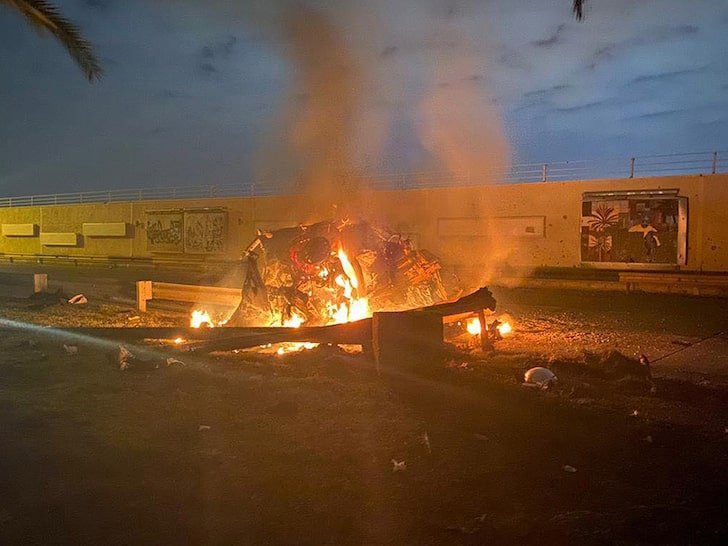 Image of Aftermath of the US Drone strike at Baghdad International Airport