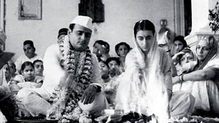 Image of Indira Gandhi with her husband Feroze Gandhi