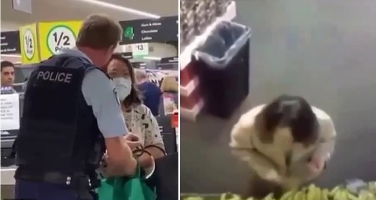 Image about COVID-19 Positive Aus Woman Arrested for Spitting on Fruits