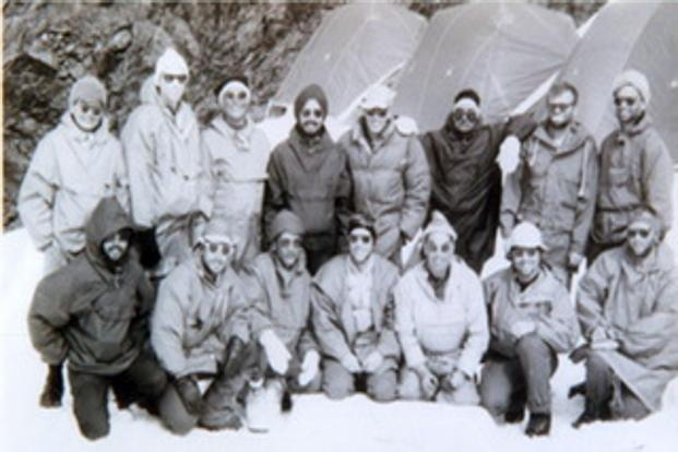Image of The Nanda Devi Spy Mission team comprising Indian and American mountaineers