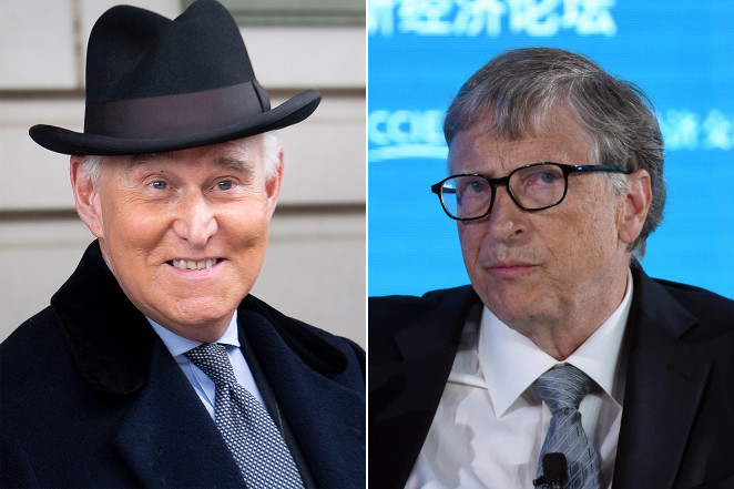 Image of Roger Stone and Bill Gates