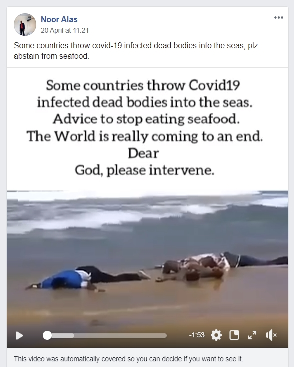 Image about Some Countries Throw COVID-19 Dead Bodies into Seas