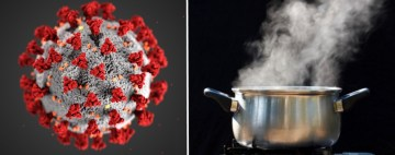 Image about Chinese Killing Coronavirus with Hot Steam Inhalation