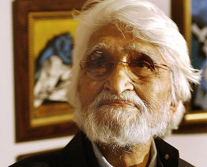 Image about Artist M.F Husain visited the Lucky Restaurant