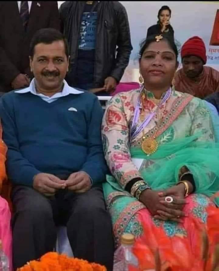 Image about Kejriwal Sitting Close to Human Trafficker Prabha Muni