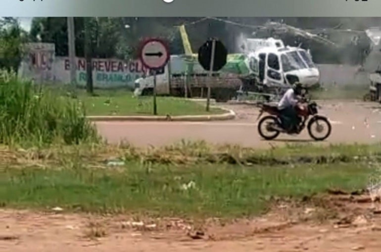 Image of The Helicopter after accident in Brazil
