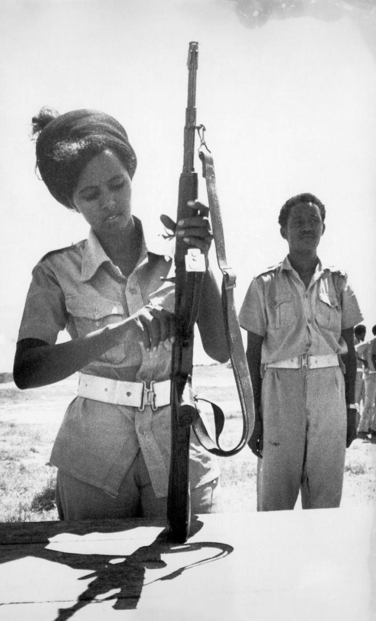 Original AP photograph showing a recruit of the Somali Army