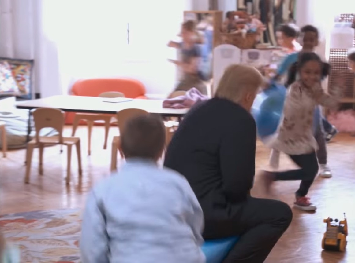 Image about President Trump Drunk in a Kindergarten, Video