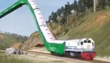 Image about High Speed Floating Train Starts in China, Video