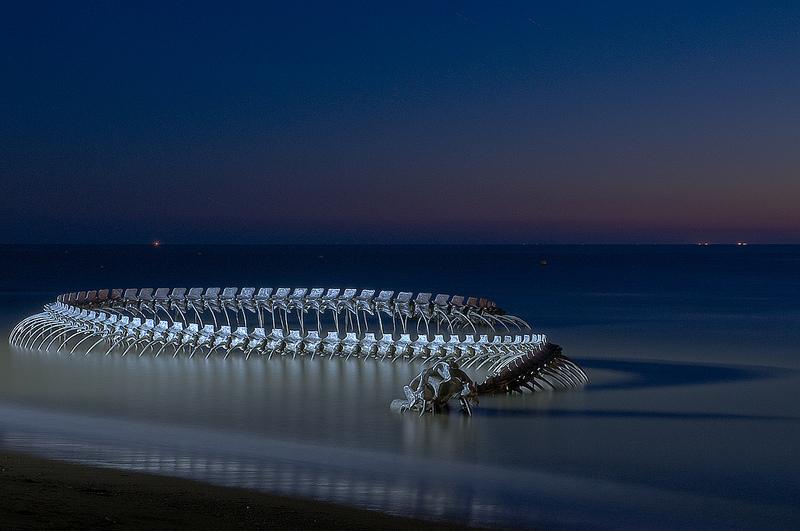 Image of Serpent d'Océan Sculpture by artist Huang Yong Ping