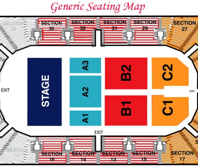 General Seating For Hobart Arena In Troy Ohio