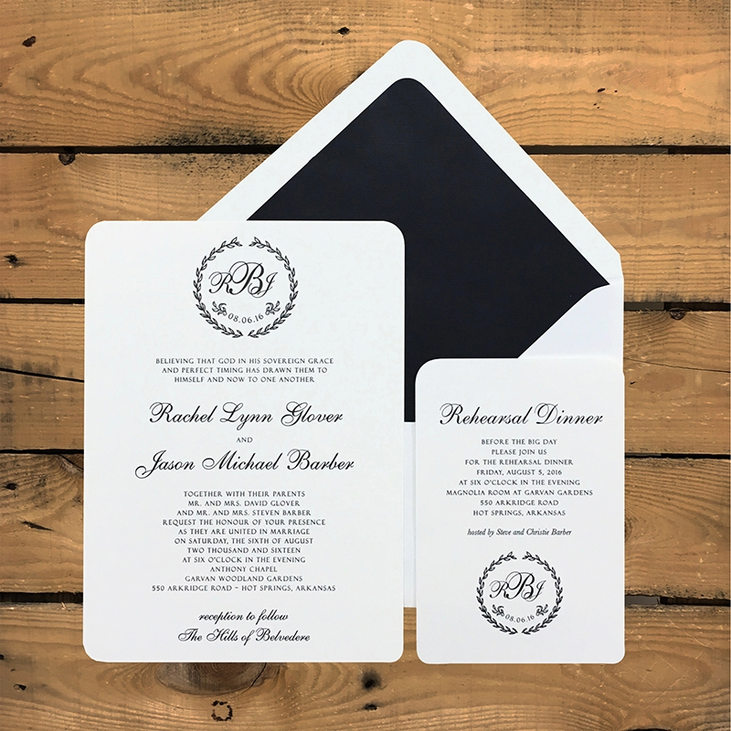 Lovely Lilies Wedding Reception Invitations