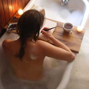 wood bath tub caddy
